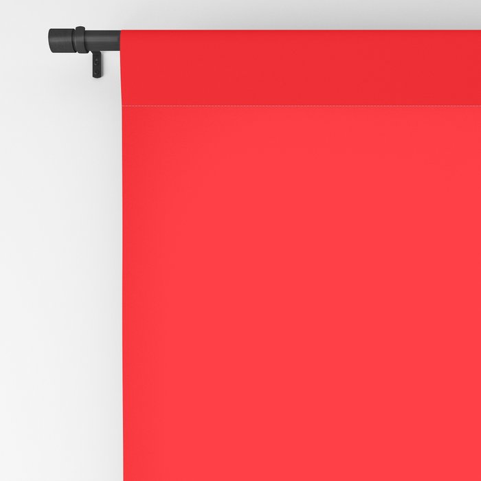 Bright Fluorescent Neon Red Fireball Blackout Curtain