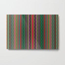Beautiful Colorful Multicolored Wavy Stripes Metal Print