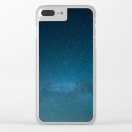 Navy Blue Galaxy Clear iPhone Case