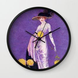 Vintage Lady from 1912 Wall Clock