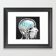 Brain Flowers Framed Art Print