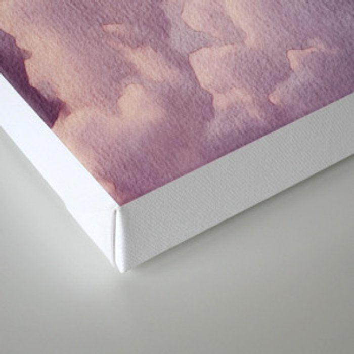 Abstract hand painted blush pink lilac watercolor clouds pattern Canvas Print