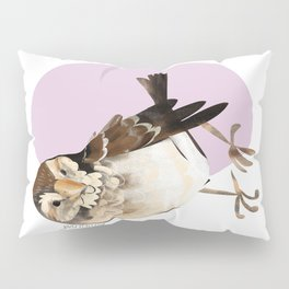 Female Sparrow in Pink (c) 2017 Pillow Sham