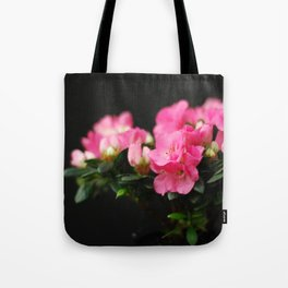 Flower - Pink & Black Tote Bag