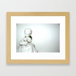 Girl in White Framed Art Print