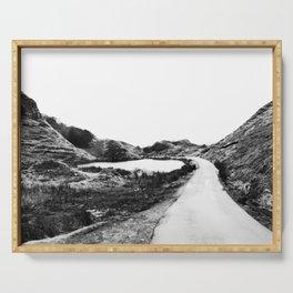 Road through Fairy Glen - B/W Serving Tray