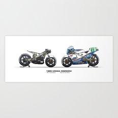 Honda RS250RW - 1985 Freddie Spencer Art Print