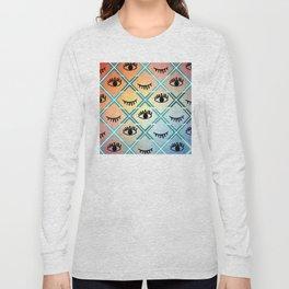 Original Colorful Eyes Design Long Sleeve T-shirt
