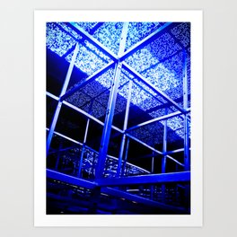 Blue Structure Art Print