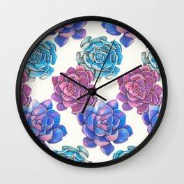 Vibrant Succulents  Wall Clock