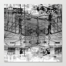 Summer space, smelting selves, simmer shimmers. 27, grayscale version Canvas Print