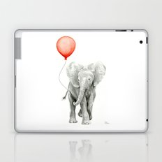Baby Elephant Watercolor Red Balloon Nursery Decor Laptop & iPad Skin