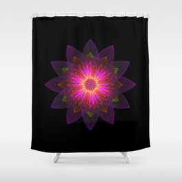 Abstract purple flower 01 Shower Curtain