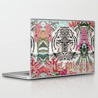 the thing Laptop & iPad Skins featuring WILD THING by Monika Strigel