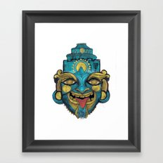 Morpho Mask Framed Art Print