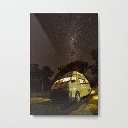 Campervan in the night Metal Print