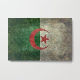 National flag of Algeria - Vintage version Metal Print