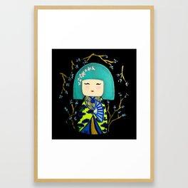 Green Kimi Doll Framed Art Print