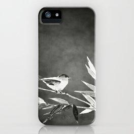 Little bird on bamboo branch. iPhone Case