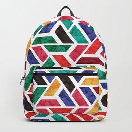 Seamless Colorful Geometric Pattern X Backpack