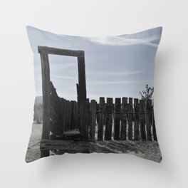 Sun Decayed Corral, Angle 2 Throw Pillow