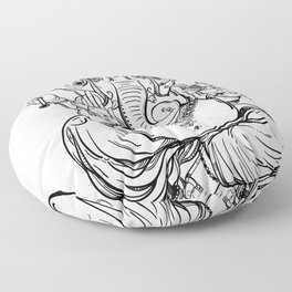 Lord Ganesha Floor Pillow