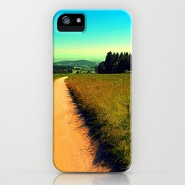 Hiking on a hot afternoon iPhone Case