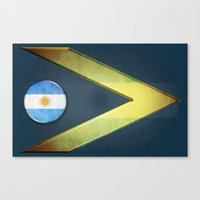 argentina Canvas Prints featuring Argentina by ilustrarte