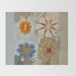 Fulvous Certainty Flowers  ID:16165-113635-96480 Throw Blanket