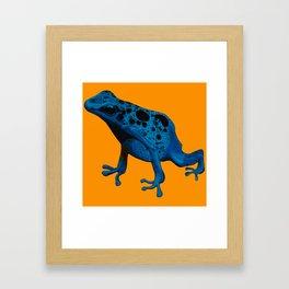 Blue Frog Framed Art Print