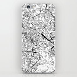 Rome White Map iPhone Skin