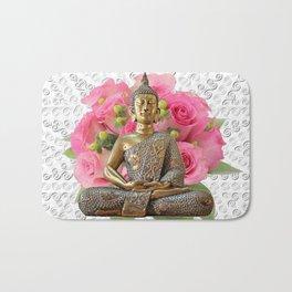 Buddha Rose Silver Mandala Bath Mat