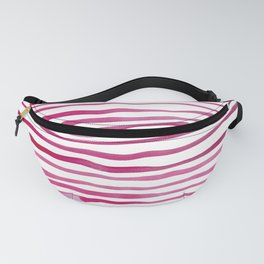 Irregular watercolor lines - pink Fanny Pack