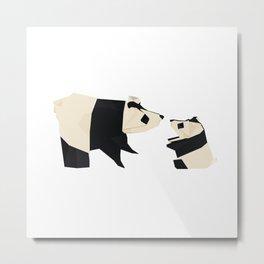 Origami Giant Panda Metal Print