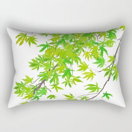 fresh green spring maple leaf Rectangular Pillow