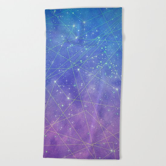 Map of the Stars Beach Towel