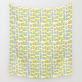 rectangle and abstraction-mutlicolor,abstraction,abstract,fun,rectangle,square,rectangled,geometric, Wall Tapestry