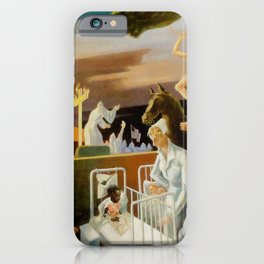 Classical Masterpiece 'A Social History of Indiana' by Thomas Hart Benton iPhone Case