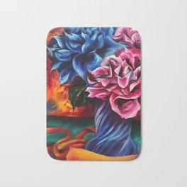 """Flowers"" Painting Bath Mat"