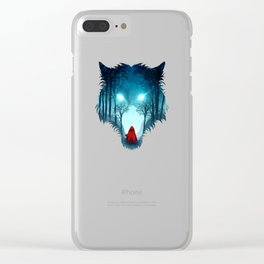 Big Bad Wolf (dark version) Clear iPhone Case