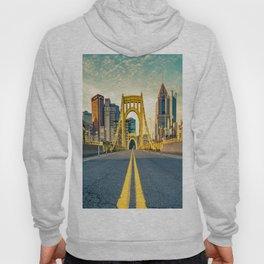 Pittsburgh Vintage Golden Bridge Print Hoody