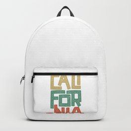 Vintage Retro California State Typographic Gift Backpack