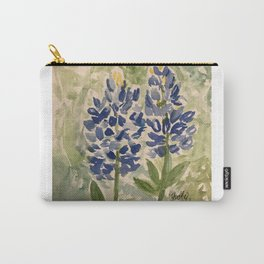 Jeanette's Texas Bluebonnets Carry-All Pouch