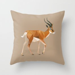 Gazelle. Throw Pillow
