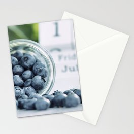 Wild Bluebeeries in Glass for kitchen Stationery Cards