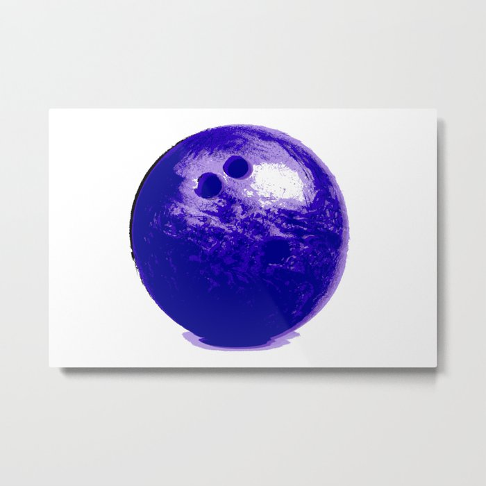 Purple Bowling Ball Metal Print
