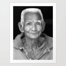 My face tells 1000 stories. Art Print