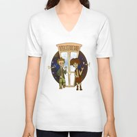 1989 V-neck T-shirts featuring Bill & Ted's Excellent Adventure (1989) by niles yosira