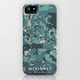 McKinney, United States - Cream Blue iPhone Case