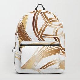 Golden Pattern Backpack